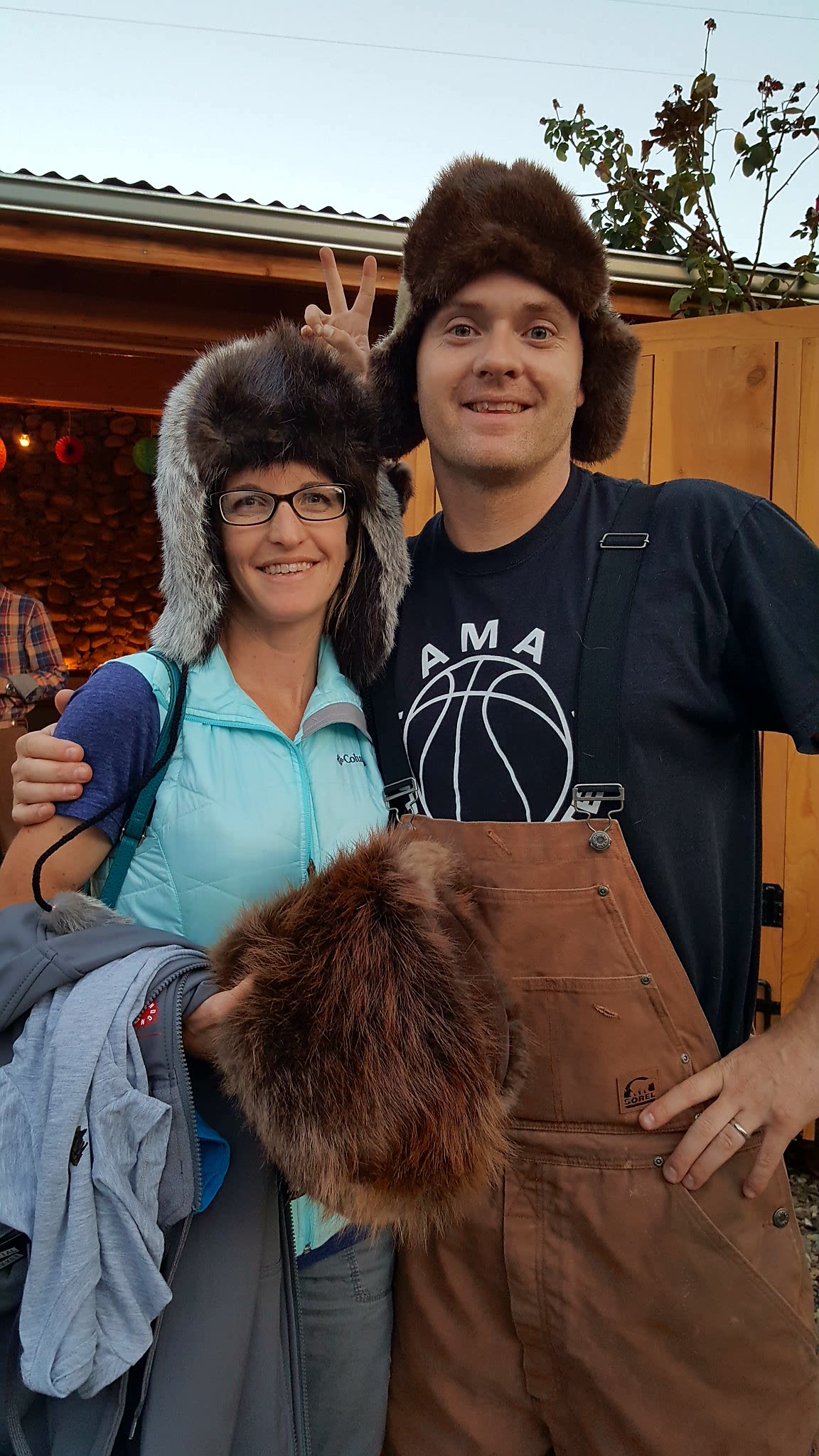 Tim & Jessica Weidmann bring a blast of cold from Alaska to this year's Pray for Snow Party.  Congratulations, Tim on Best Dressed.  Nice work on those hand made pelt hats and mittens, Jessica!  With all the snow expected this epic 2016/17 season, you'll need 'em!