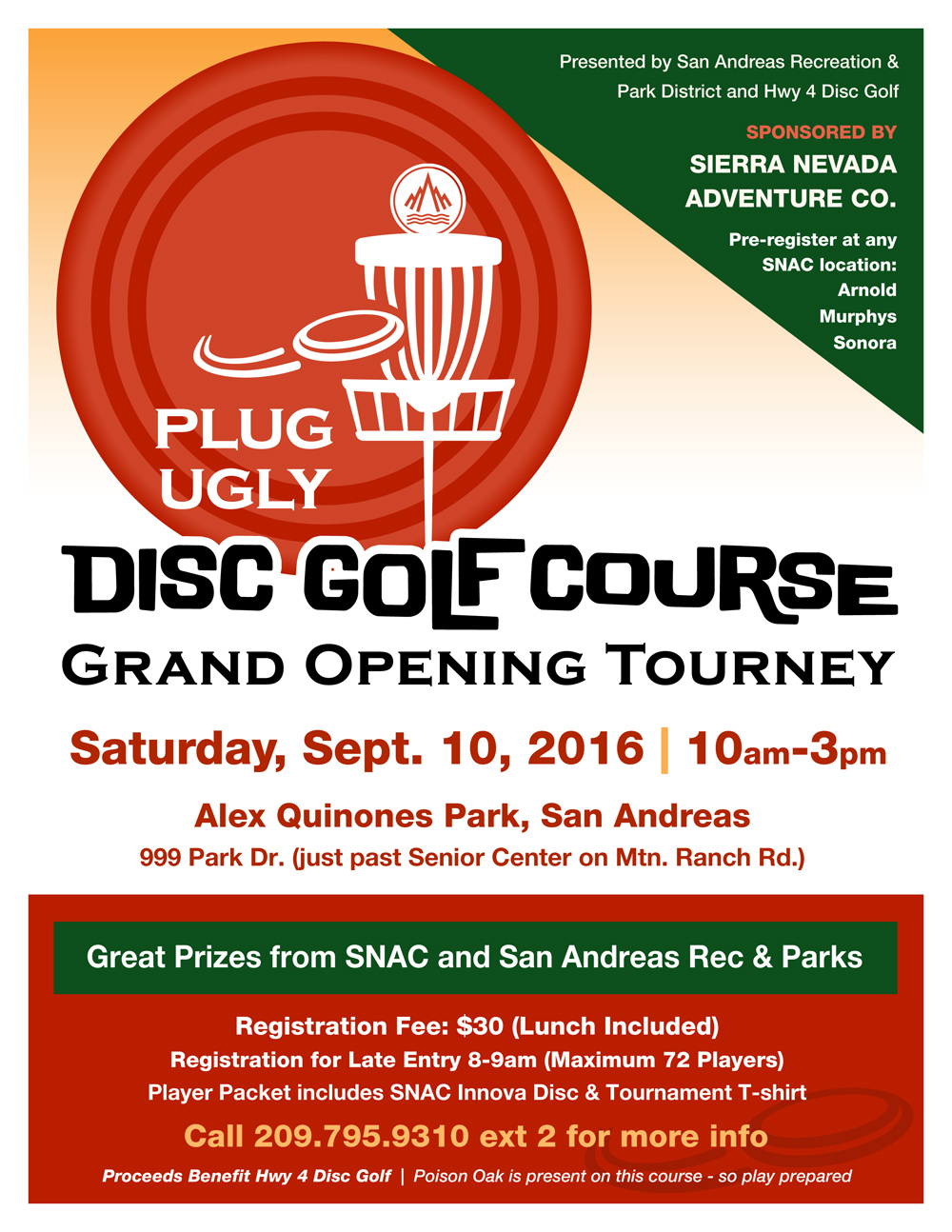 Plug Ugly Disc Golf Course Grand Opening Tourney!